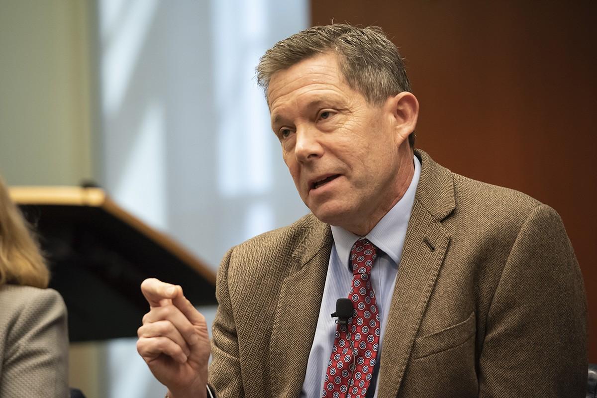 Judge Jeffrey Sutton speaks at Duke Law School