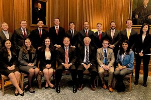 Duke Law students with Justice Alito and Professor Levi.